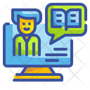 Storytelling Computer Content Icon