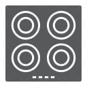 Electric Hot Plate Icon