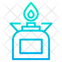 Gas Stove Flame Burn Icon