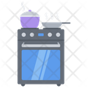 Stove Kitchen Cooking Icon