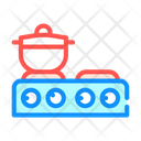 Table Stoves Color Icon