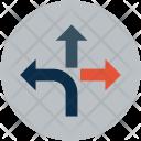 Straight Turn Left Icon
