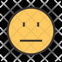 Straight Emoji Face Icon