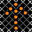 Straight Arrow Sign Icon