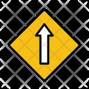 Straight Ahead Go Straight Straight Sign Icon