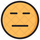 Straight Face Emoji Expression Icon