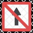 Straight Prohibited No Icon