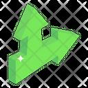 Straight Turn Arrows Icon