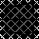 Straighten Horizontal Icon