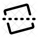 Straighten Line Photo Icon
