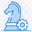Strategic Management Business Management Chess Paws Icon