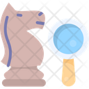 Strategic Research Business Strategy Magnifying Icon