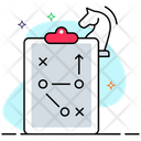 Strategy Map Tactics Map Planning Icon