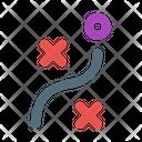 Strategy Map Organize Icon