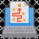 Laptop Plan Strategy Icon