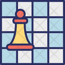 Board Game Chess Board Plan Icon