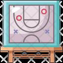 Big Board Strategy Basketball Icon