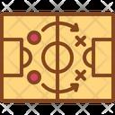 Strategy Plan Football Icon