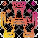 Chess Hands Digital Marketing Icon