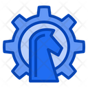 Strategy Gear Horse Icon