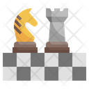 Strategy Board Game Chess Pieces Icon
