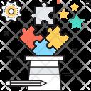 Strategy Teamwork Puzzle Icon
