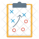 Strategy Planning Clipboard Icon
