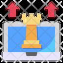 Chess Laptop Arrow Icon