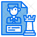 Business Chess Strategy Icon