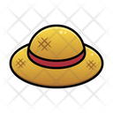 Straw Hat Summer Sunny Day Icon