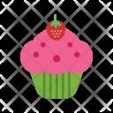 Strawberrry Cupcake Sweet Icon