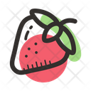 Strawberry Dessert Food Icon