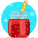Strawberry Smoothie Drink Icon