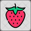 Valentine Day Strawberry Fruit Icon