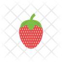 Strawberry Food Juicy Icon