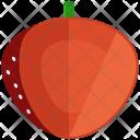 Strawberry Half Fruit Icon