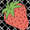 Strawberry Fruit Fresh Icon