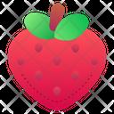 Strawberry Vegan Fruits Icon