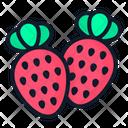 Strawberry Plant Spring Icon