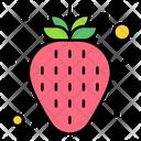 Strawberry Fruit Organic Icon