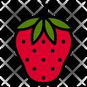 Strawberry Nutrition Vitamin Icon