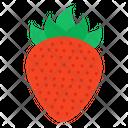 Strawberry Fruit Edible Icon
