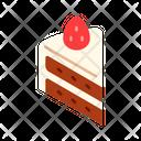 Strawberry Cake Shortcake Cake Icon