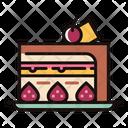 Strawberry Cake Cake Sweet Icon