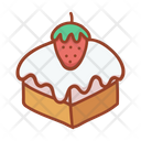 Strawberry Cheese Cake Cake Bakery Icon