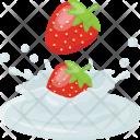 Strawberry Cream Dip Icon