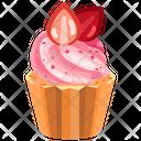 Strawberry Cupcake Cupcake Pastry Icon