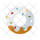 Strawberry Donut Donut Icing Icon