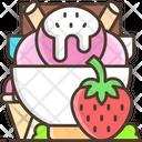 Strawberry Ice Cream Strawberry Ice Cream Icon