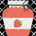 Strawberry Jam Bottle Icon